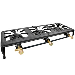 Carolina Cooker Triple Burner, Cast Iron Stove