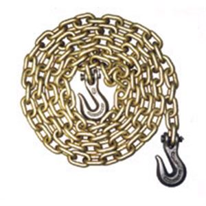 Transport Chain With Clevis Hooks, 5/16 In. X 20 Ft., Grade 70
