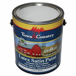 Latex Barn & Fence Paint White, 1 Gallon