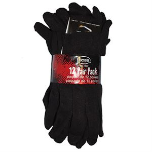 Dark Brown Jersey Glove, Pack Of 12 Pair