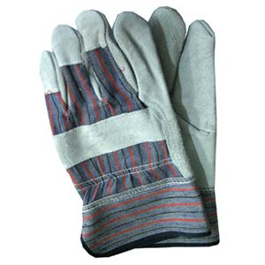 Leather Palm Gloves Safety Cuffs Pk