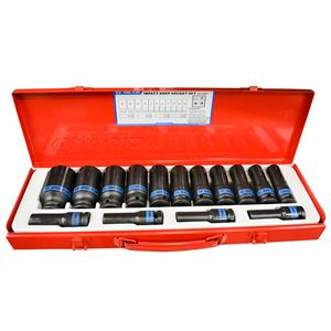 Drive Deep Impact Socket Set Metric