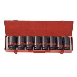 8 Pc Drive Deep Impact Socket Set SAE