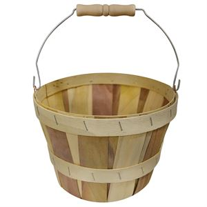 4 Quart Round Natural Basket with Bail Handle