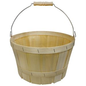 1 Peck Natural Basket with Bailwood