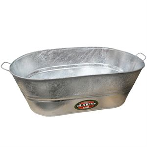 Wash Tub, 10-1/2 Gallon, Oval, Galvanized