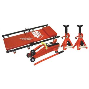 Floor Jack (2 Ton) Combo w/Stands & Creeper