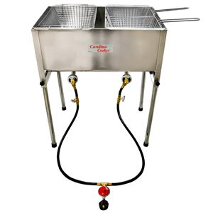 Carolina Cooker Stainless Steel 2 Burner Fryer