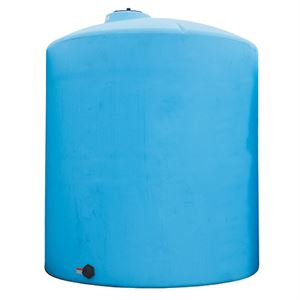 6,100 Gallon Norwesco Blue Vertical Tank