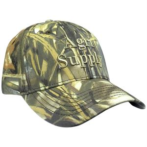 Camo Cap, Agri Supply with Velcro Back