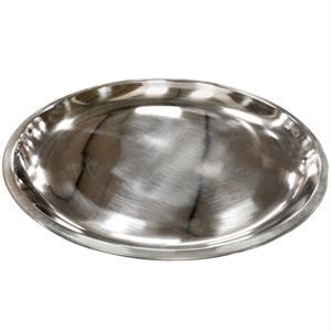 Stainless Steel Round Plate, 10.6 Inch Diameter
