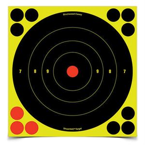 8 In. Bulls-Eye Target, 6 Sheets