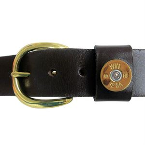 ShotShell Leather Belt, 40 In.