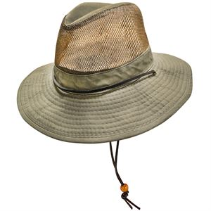 Safari Style Hat Olive Color Large