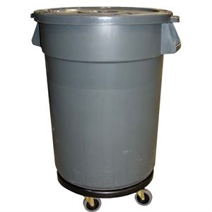 Ztw Mobile Bucket Gal Flat Lid Movable