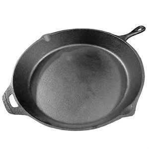 Cast Iron Skillet, 15-1/2 In. - Pre-Seasoned