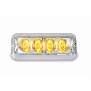 Amber LED Strobe Light, 12 Volt