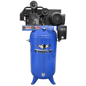 Two Stage Air Compressor, 7.5 HP, 80 Gallon, 200 PSI