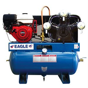 Gas Air Compressor, 5.6 CFM, 9 HP, 30 Gallon, Truck Mount