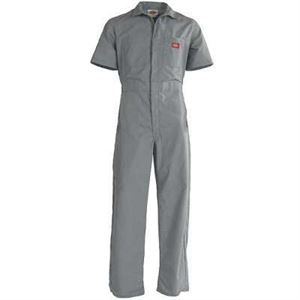 Gy Short Sleeve Coverall Large Reg Gray