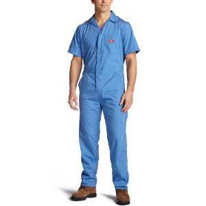 Mb Short Sleeve Coverall Large Reg Blue