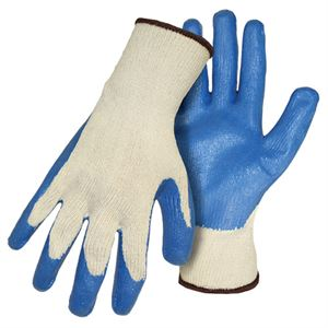 Latex Coated String Knit Gloves Large