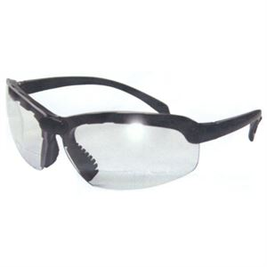Bifocal Safety Glasses, Black Frame, 1.50 Magnification
