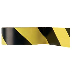 Aisle Marking Floor Tape, Yellow and Black