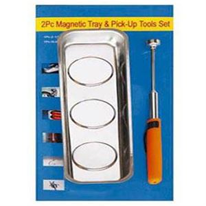 Pc Magnetic Tool Set Long Tray & Pickup Tool