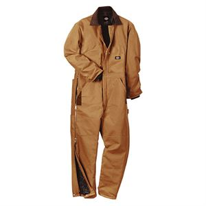 Duck Insulated Coveralls, XL - Short