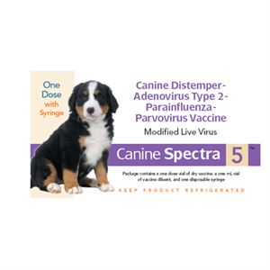 Canine Spectra 5 ™ Vaccine For Dogs with Syringe