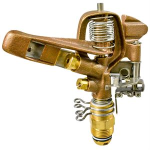 Brass Impulse Sprinkler, Double Nozzle, 3/4 In.