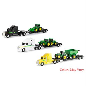John Deere Hauler Semi and Tractor Toy Set