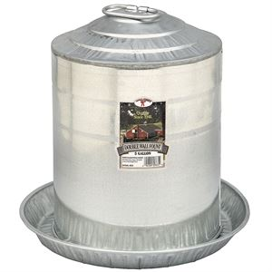 Galvanized Poultry Waterer, 5 Gallon