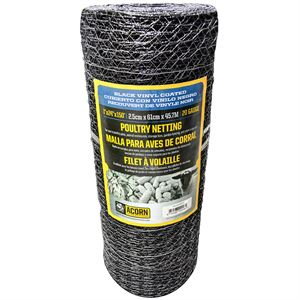 Vinyl Coated Poultry Netting, 24 In. H X 150 Ft. Roll
