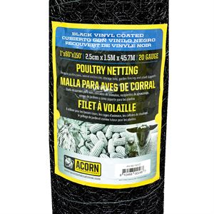 Vinyl Coated Poultry Netting, 60 In. H x 150 Ft. Roll