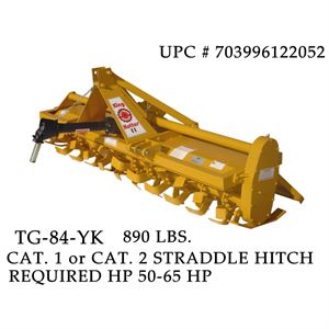King Kutter Rotary Tiller, Gear Driven, 7 Ft.