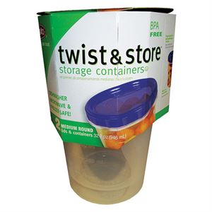 Medium Twist&Store® Container, 2 Pack