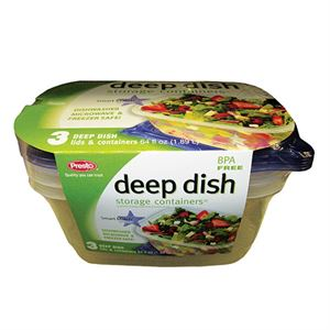 Deep Dish Container, 3 Pack