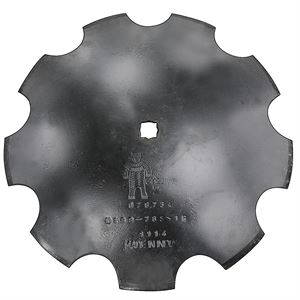 Notched Disc Blade, 18 x 3.5 MM,  7/8 x 1 RCH, 1-3/4 Concavity