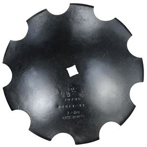 Notched Disc Blade, 18 in x 3 MM, 1 in SCH, 1-3/4 in Concavity