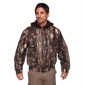 Mens Hooded Camo Jacket, Insulated, Medium