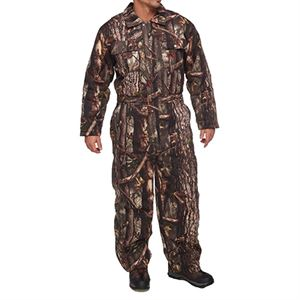 Mens Insulated Camo Coveralls, Cotton, Large