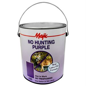 No Hunting Purple Paint, 1 Gallon