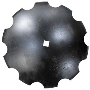 22 in x 6MM Disc Blade 1-1/8 in SCH 2-1/2 in Conc., Notched