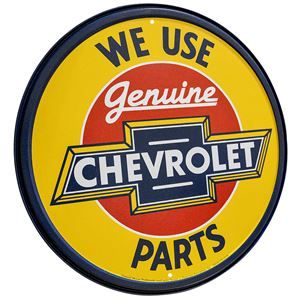 We Use Genuine Chevrolet Parts Sign