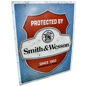 Protected By Smith & Wesson Since 1852 Sign