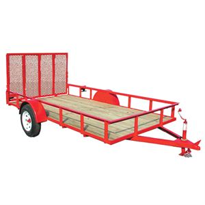 5 Ft X 12 Ft Utility Trailer, Single Axle, 2020 Lb Payload