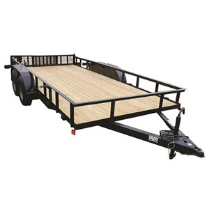 82 x 16 Tandem Trailer with Ramps, Model 716TSB/ES