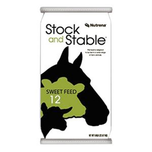 Stock and Stable 12% Multi Species Horse Feed, 50 Lb.